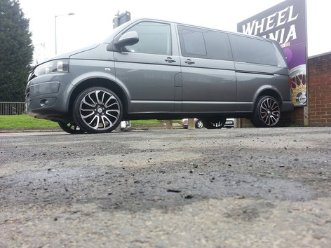 """VW Transporter fitted with 20"""" Turbines"""