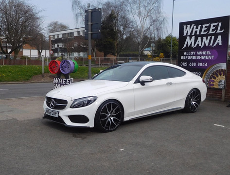"""Mercedes C Class coupe fitted with 20"""" Mayfair"""