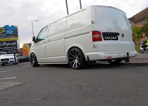 "VW T5 Fitted With 20"" MGM"