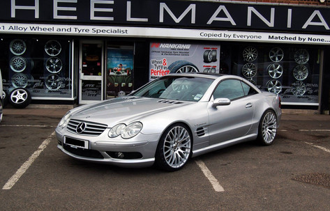"MERC SL Fitted With 20"" ALTUS"