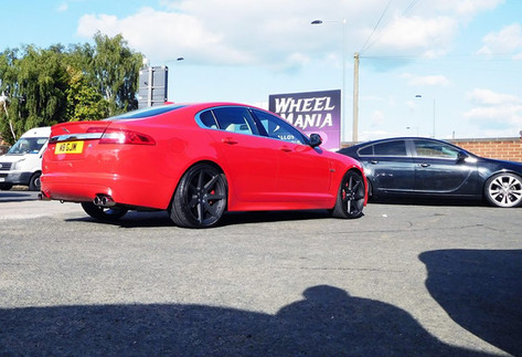 """Jaguar XFR Fitted With 20""""Riviera RV 177"""