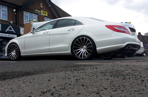 "MERC CLS Fitted With 20"" FORCE 5"