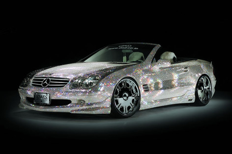 "Mercedes sl  Fitted With 20"" Garson jewel"