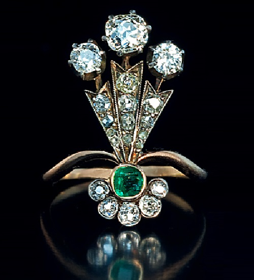 A-Belle-Epoque-Plume-Shaped-Ladies-Ring.-This-unusual-antique-ring-was-hand-crafted-in-St-Petersburg-around-1890