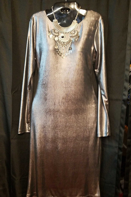 Silver ladies party dress