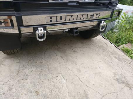 Hummer H2 удаление катализатора, установка пламегасителя