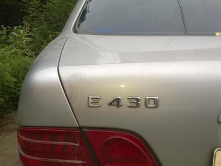 Mercedes E430 Удаление катализатора, установка пламегасителя MG-RACE