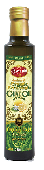 Flavoured extra virgin olive oil Lemon
