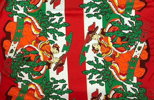 Orange Baile Mexicano - Poly Poplin