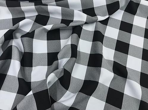 Gray Checker - Poly Poplin