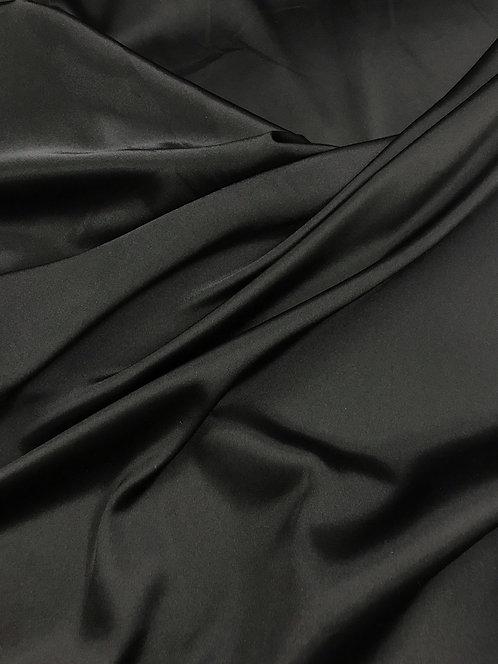 Black - Stretch Charmeuse