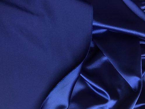 Dark Royal Blue - Stretch Charmeuse