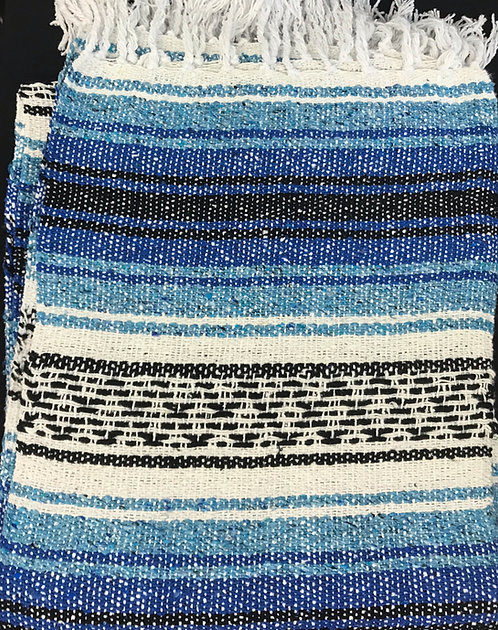 Cobija Falsa - Azul Real y Azul Claro