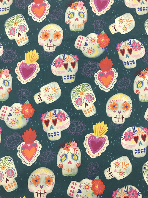 Día de Muertos Skulls - Teal
