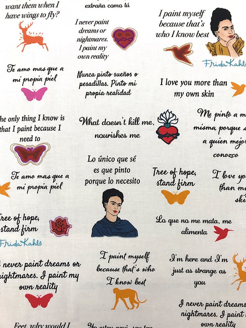 Frida Quotes - White
