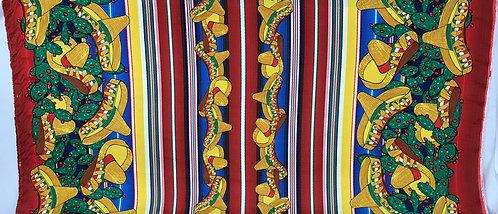 Viva Mexico Blue Sombreros - Poly Poplin