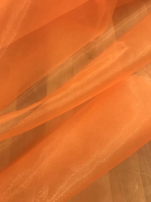 Neon Orange - Crystal Organza