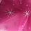 Thumbnail: Silver Glitter Star Organza - Fuchsia