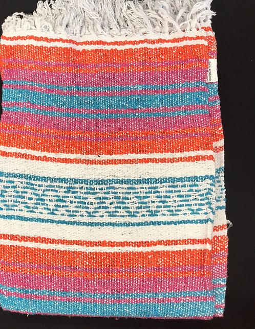 Falsa Blanket - Orange and Turquoise