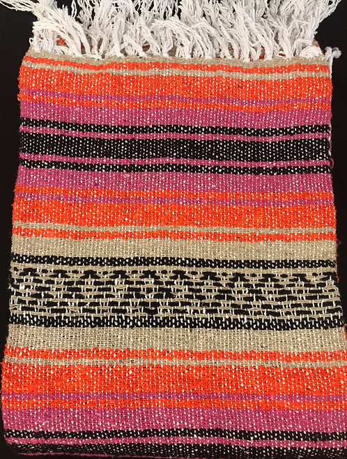 Falsa Blanket - Orange and Dark Pink