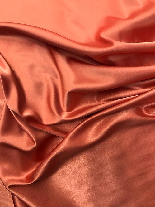 Stretch Charmeuse - Persimmon Peach