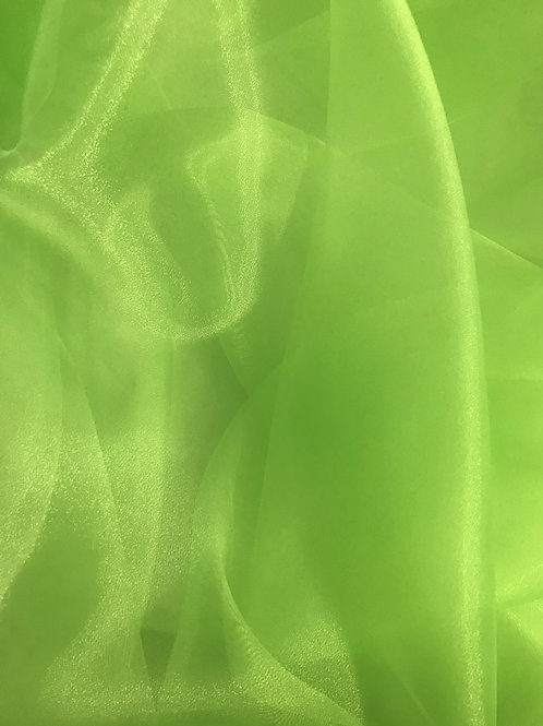 Crystal Organza - Neon Green