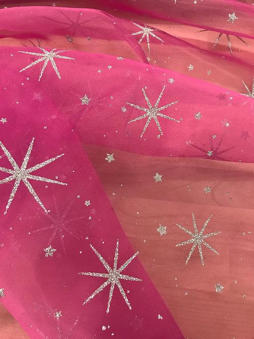 Glitter Star Organza
