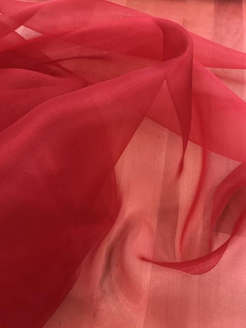 Red - Crystal Organza