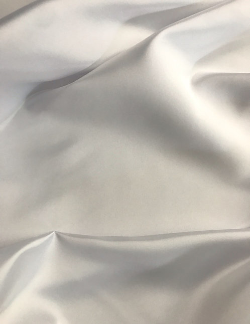 White - Dull Satin (Peau de Soie)