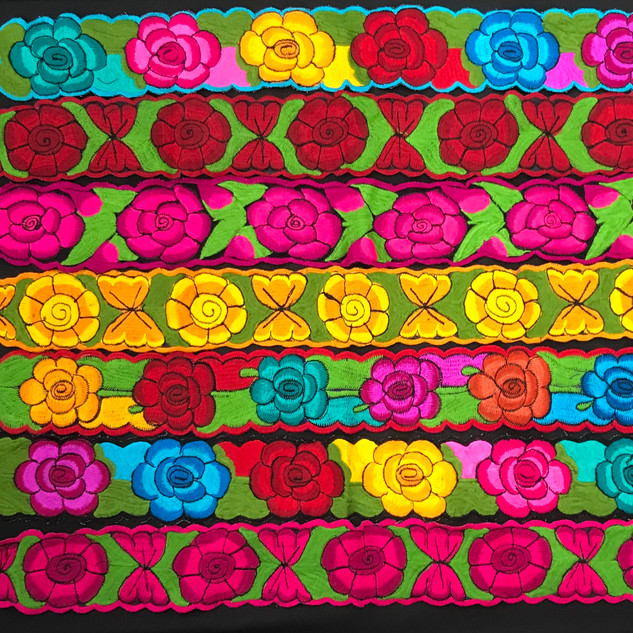 Mexican embroidered belts
