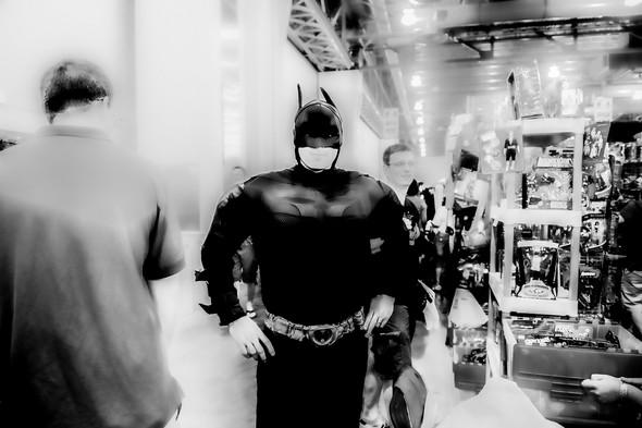 Batman Ready   Black & White Photography