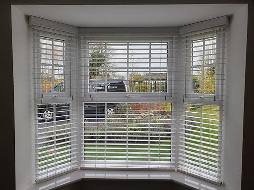 Bay Window Venetian Blinds fitted in Harrogate