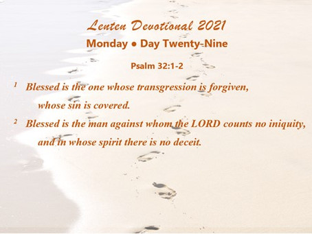 Lenten Devotional 2021 - Day Twenty-Nine