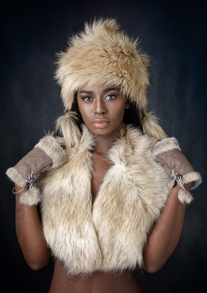 COLOUR - Jessica in Furs by William Allen (13 marks)
