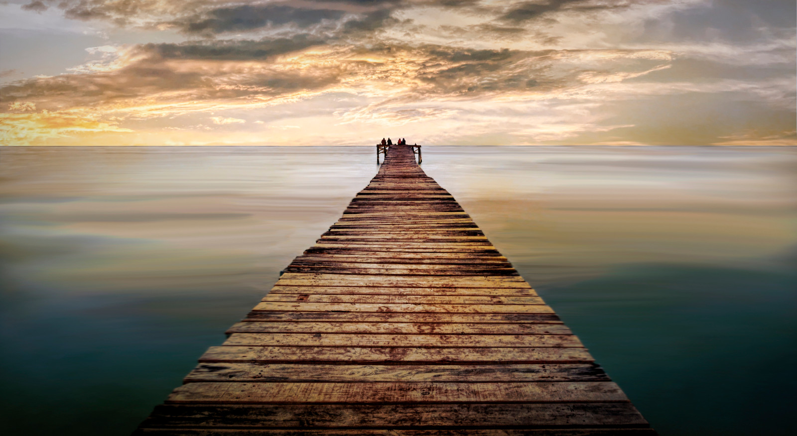 COLOUR - Sitting on the Edge of the Pier by William Allen (8 marks)