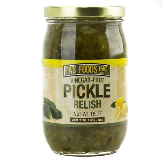 Pa's Vinegar-free Pickle Relish