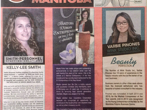 KELLY-LEE PROFILED IN THE WPG SUN