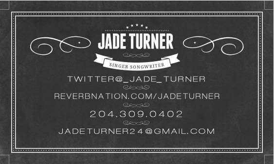 Artist Jade Turner Business Card Back