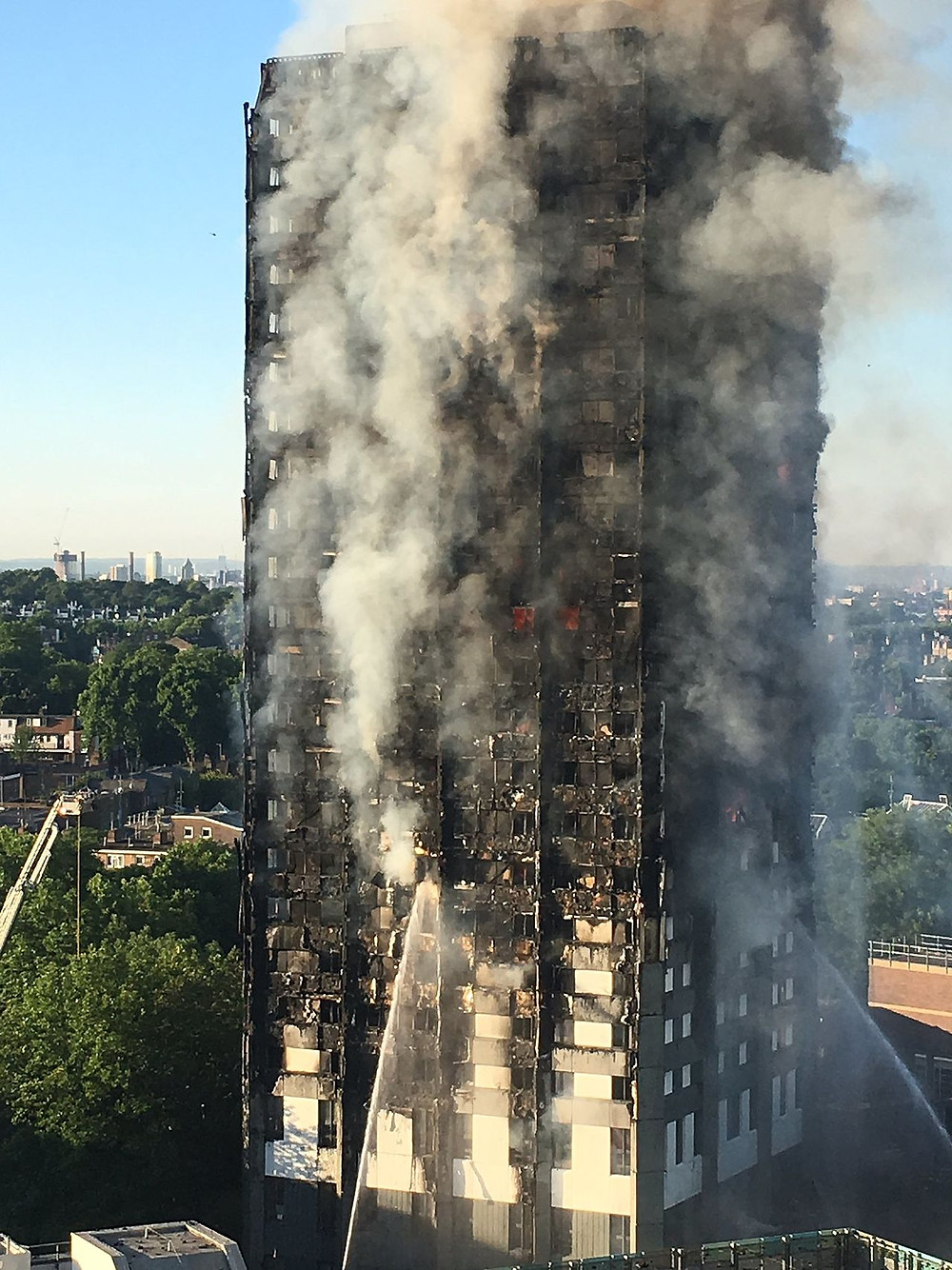 Grenfell Tower disaster - photo credit: https://en.wikipedia.org/wiki/Grenfell_Tower_fire#/media/File:Grenfell_Tower_fire_morning.jpg