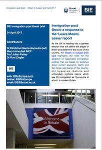 BiE immigration after Brexit brief (April 2017)
