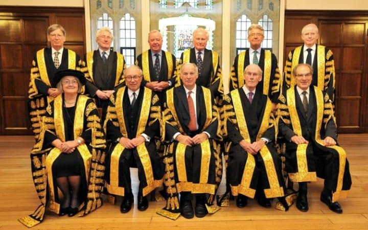 The 11 judge formation for the UKSC in Miller (photo from Telegraph)