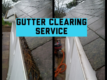 Gutter clearing service Wrexham and surrounding areas