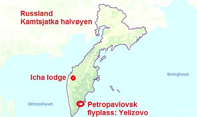 Kamtsjatka kart flyplass lodge Icha .png