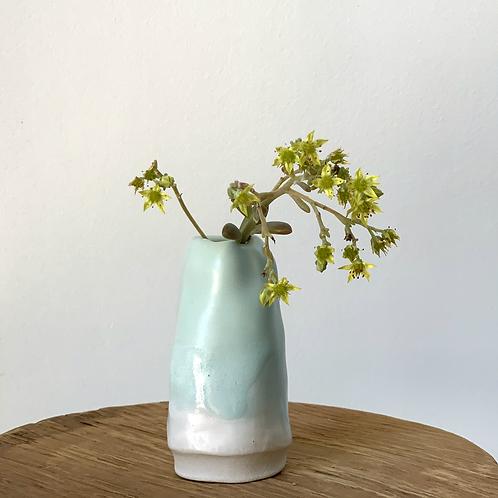 Sea Foam Blue Bud Vase