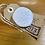 Thumbnail: White Textured Porcelain Brooch