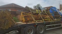 Timber being delivered