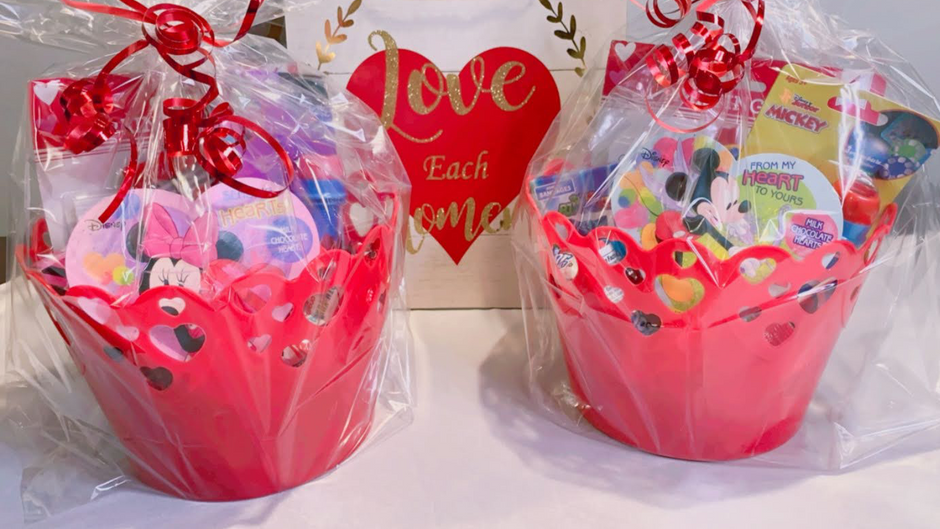 $12 Valentine Gift Baskets for Toddlers/Preschoolers