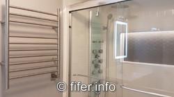 Spa-like lower washroom