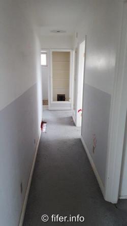 BEFORE narrow hallway.