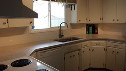 Re-freshened kitchen.